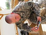 Bittersweet joy, 149th Infantry Regiment soldier welcomes his first son into the world while deployed 110831-A-UH571-003.jpg