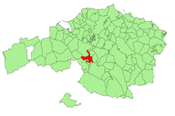 Location of Arrigorriaga in Biscay