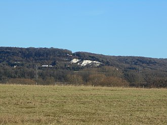 Blue Bell Hill - Image: Blue Bell Hill, viewed from near Anchor Farm, Aylesford