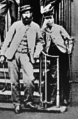 Bob Kirk (right) with Old Tom Morris in May 1867 at Leith Links.PNG