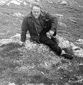 Bobby Tulloch and snowy owl nest site, Fetlar, Shetland, 1967.jpg