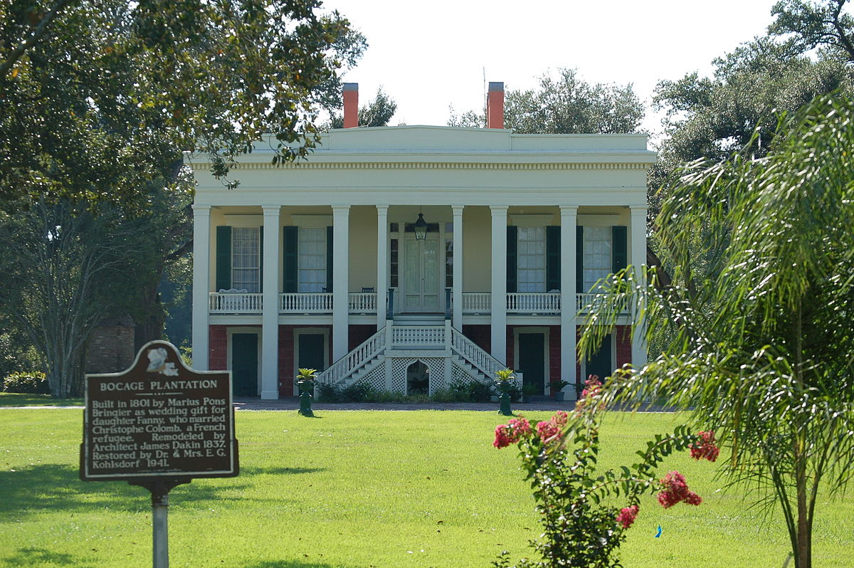 Bocage plantation wikipedia for Southern homes louisiana