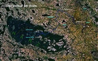Bode (river) - Image: Bodeverlauf Harz Vorland