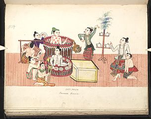 Zat-pweh. Burmese drama