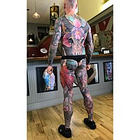 bf379b1b8 A body suit or full body suit is an extensive tattoo, usually of a similar  pattern, style or theme that covers the entire torso or the entire body.