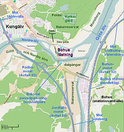 kungälv karta Bohus fästning – Wikipedia kungälv karta