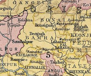 Orissa Tributary States - Bonai and Gangpur feudatory states