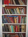 Bookcase in Patrick M. L. Fermor's office in Greece.jpg
