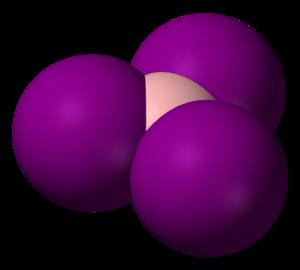 Boron triiodide - Image: Boron triiodide 3D vd W