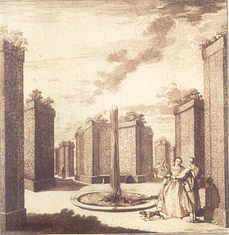 Bosquet - Bosquet of the Branicki Palace in Białystok, 1750s