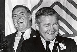 William Bulger - Bulger (right) with Boston Mayor Ray Flynn