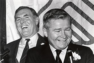 Raymond Flynn - Flynn, with Massachusetts Senate President William Bulger, in the 1980s.