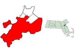 Locatie van Bedford