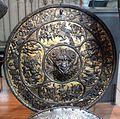 Bottega milanese, rotella da parata con mascherone di satiro, 1570-80 ca.jpg