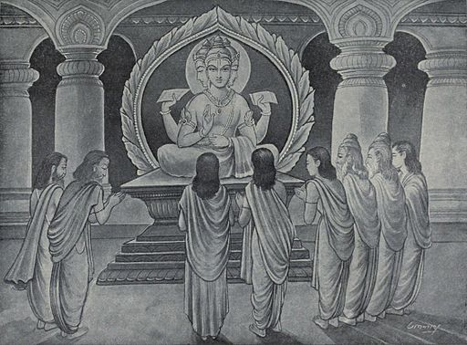 Brahma preaches to sages