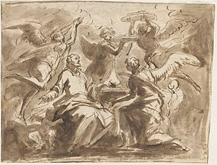 Christ ministered to by the angels