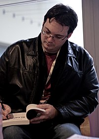 Brandon Sanderson signing at Utopiales in 2010
