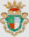 Brasão de armas de Cosme Damião Pereira Pinto - Companhia das Índias, c. 1735.png
