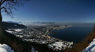 Blick vom Haggen auf die Stadt Bregenz