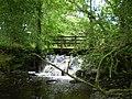 Bridge and weir on the Afon Nodwydd - geograph.org.uk - 1425018.jpg