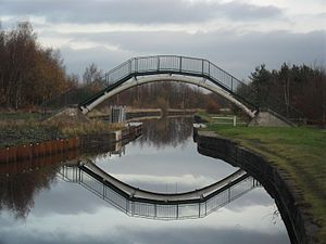 Astley, Greater Manchester - A footbridge over the Bridgewater Canal near Astley Green