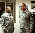 Brig. Gen. Jesse R. Cross speaks with Maj. Gen. Kenneth S. Dowd 110702-A-AG442-045.jpg