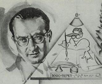 Samuel J. Briskin - Cartoon image of Briskin from The Film Daily in 1936.
