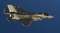British F-35B in flight near Eglin AFB in May 2014.jpg