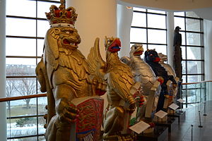 The Queen's Beasts - The original Queen's Beasts in the Canadian Museum of History