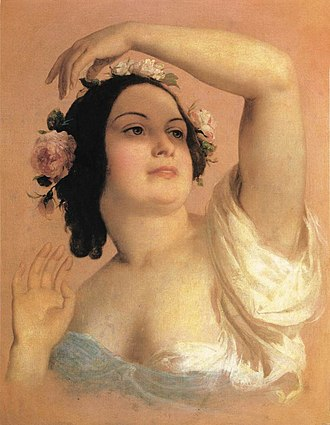 Károly Brocky - Image: Brocky, Karoly Bust of a Young Woman, Summer (1846 50)