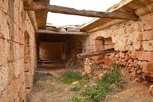 The Devil's Farmhouse - Image: Broken ceiling at the Devil's Farmhouse