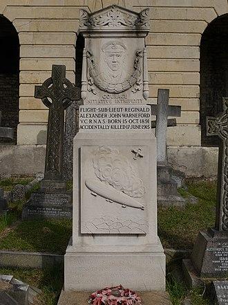 Reginald Warneford - Funerary monument, Brompton Cemetery, London