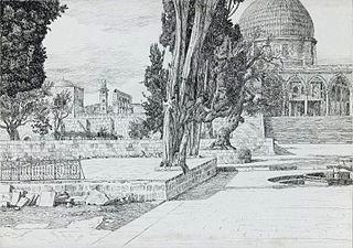 ''Haram: Mosque of Es-Sakrah Called Mosque of Omar, Jerusalem''