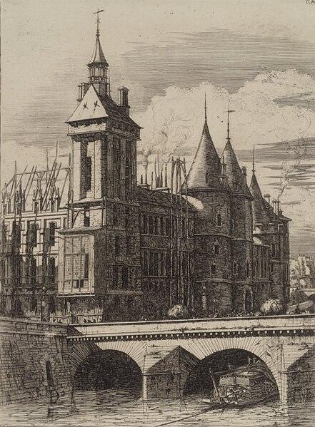 Fichier:Brooklyn Museum - La Tour de l'Horloge - Charles Méryon.jpg