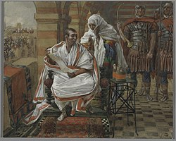 James Tissot: The Message of Pilate's Wife. Pilate