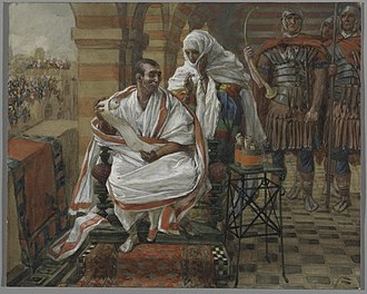 Pontius Pilate's wife - The Message of Pilate's Wife (1886–94) by James Tissot (Brooklyn Museum)