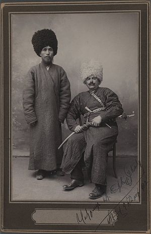 Khan (title) - Two Khans in Turkoman Tribal Costume, One of 274 Vintage Photographs. Brooklyn Museum.