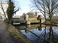 Brug en stuw Dommel ten zuiden van de Wal Eindhoven.JPG
