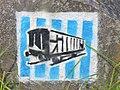 Buchenwald - Wegweiser an der Ehemaligen Bahnlinie (Waymarker on the Former Railway Line) - geo.hlipp.de - 40143.jpg