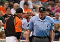 Buck Showalter, Joe West (7464816574).jpg