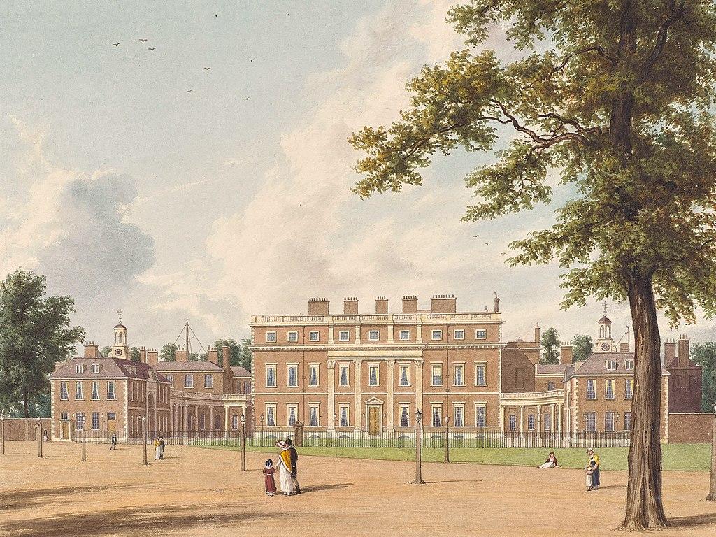 Букингемский дом, Восточный фронт, Уильям Уэстолл, 1819 г. - королевский колл 922137 257059 ORI 0.jpg