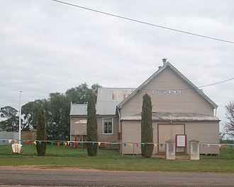 Buckrabanyule, Victoria - The Buckrabanyule Hall on the day of the centenary celebrations