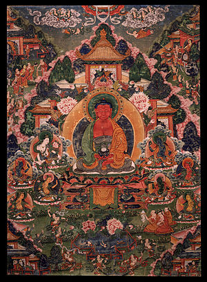 Buddha Amitabha in His Pure Land of Suvakti, Central Tibet