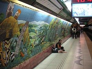 Bulnes (Buenos Aires Underground) - Image: Buenos Aires Subte Bulnes