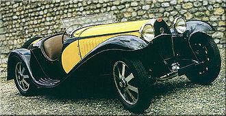 Bugatti Type 55 - Bugatti Type 55 wearing 2 seat roadster bodywork designed by Jean Bugatti