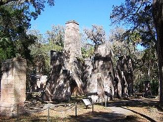 Bulow Plantation Ruins Historic State Park - Sugar mill ruins