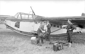 DFS 230 - Luftwaffe soldiers loading the DFS 230 in preparation for deployment.