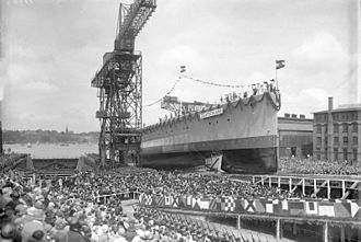 Deutschland-class cruiser - Deutschland at her launching