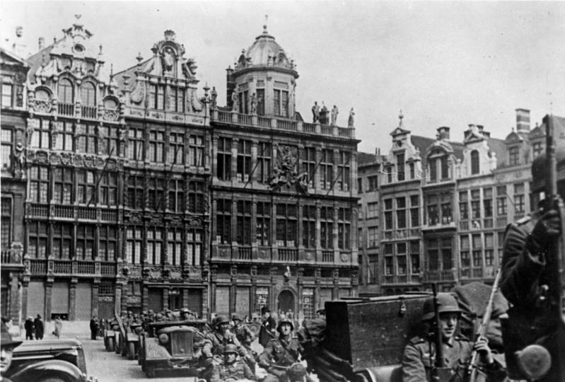 Bundesarchiv Bild 146-1969-129-01, Belgien, deutsche Truppen in Brüssel