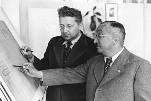 Siegfried and Walter Günter - Ernst Heinkel (right) with Siegfried Günter.